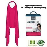 Kushies 2 in 1 Peekaboob Breastfeeding Scarf Extra Privacy Nursing Cover Pink