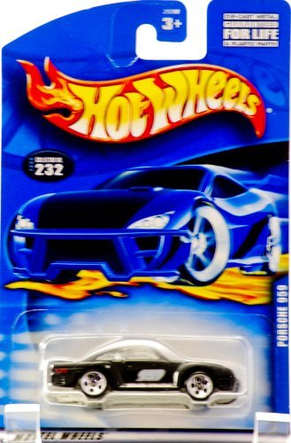 (2000 - Mattel - Hot Wheels - Collector #232 - Porsche 959 - Black - Twin Turbo - Custom Wheels - New - Out of Production - Rare - Limited Edition - Collectible)