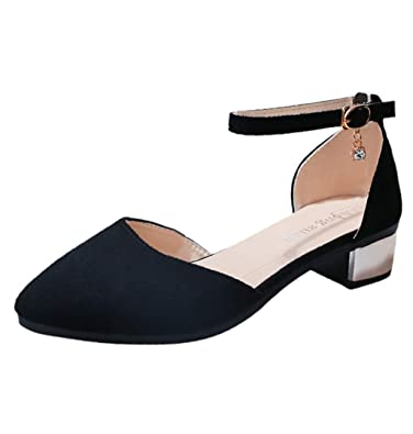 where can i buy super cheap buy cheap Pointed Square Heels Sandals, PAOLIAN Women Shoes Block Low Heel ...