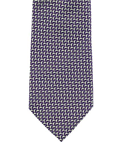Sean John Mens Chevron Textured Self-tied Bow Tie Purple One Size