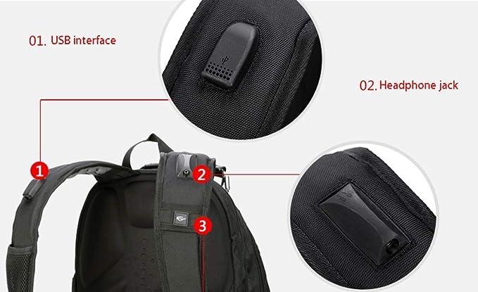 Amazon.com: Mochila para excursionismo al aire libre: negocio de la moda, mochila deportiva multifuncional de 17 pulgadas, gran capacidad, impermeable al ...