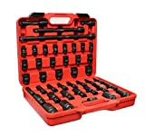 ABN 1/2'' Inch Drive Metric Master Deep & Shallow Impact Socket 43-Piece Set 9mm to 30mm with Extensions & Swivel Joint
