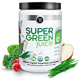 Super Green Juice - 44 Organic Superfoods Powder Supplement (300g) - Probiotics, Antioxidants, Fiber & Digestive Enzymes - Best USDA Organic & Vegan Greens to Alkalize, Energize & Detox (30 Servings)