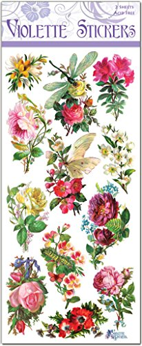 Violette Stickers Dragonfly Rose Stickers