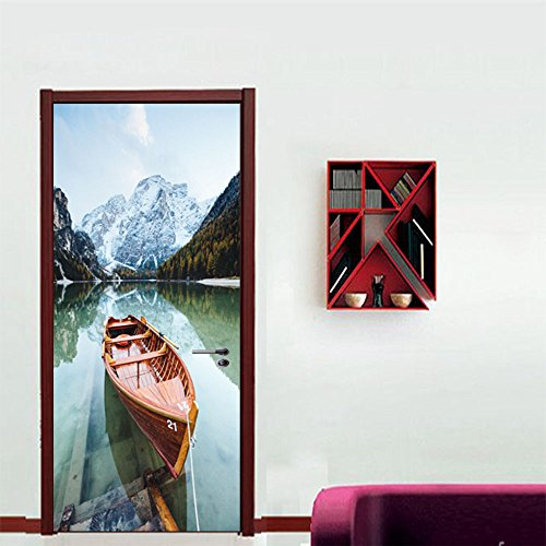LWCX Landscape Creative Door Sticker Self Sticker 38.5200Cm2 Film by LWCX