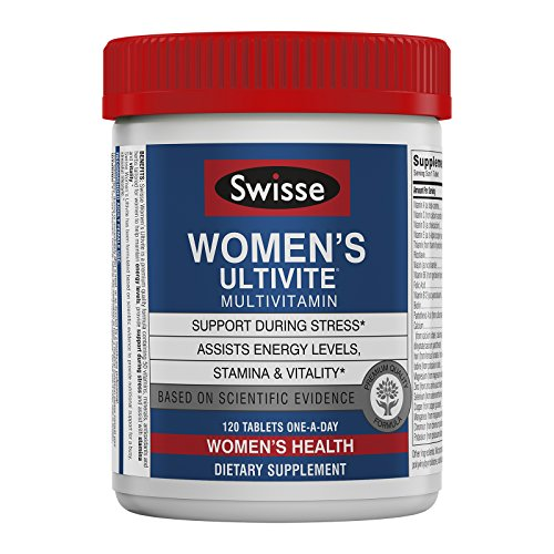 Swisse Women's Ultivite Tablets, Women's Daily Multivitamin, 120 Tablets, Premium Formula of Vitamins, Minerals, Antioxidants and Herbs for Women's Health, for Women 18 and Older*