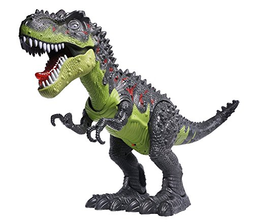 CifToys Tyrannosaurus Rex Dinosaur Walking Dinosaur Toys Kids Toy Realistic Jurassic Trex Dinosaur Action Toy Figure Walking Moving Glowing Dino Figure (Green)