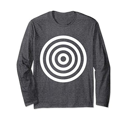 (Unisex Bullseye Target Circles Halloween Costume Shirt Long Sleeve 2XL Dark)