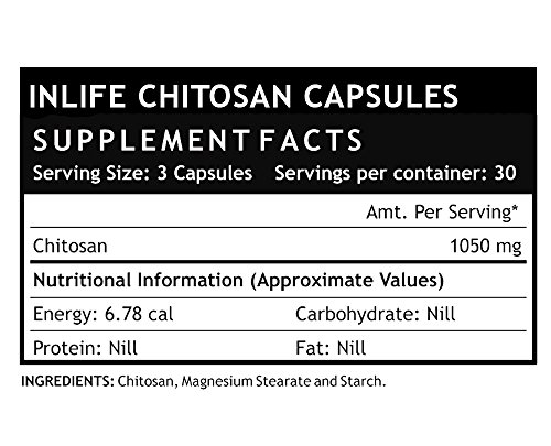 Inlife Chitosan Supplement 1050 mg, per serving - 90 Capsules (2-Pack)