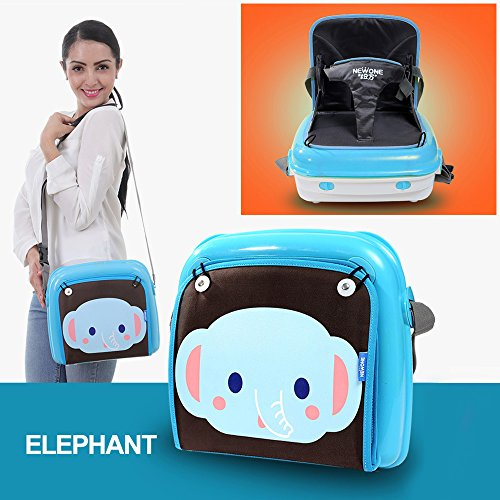Best Deals! GrowRight Portable Multifunctional Baby Infant Travel Booster Seat & Diaper Bag / Plasti...