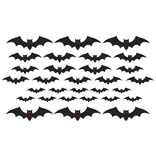 amscan Cemetery Bat Cutouts | Halloween Decoration -