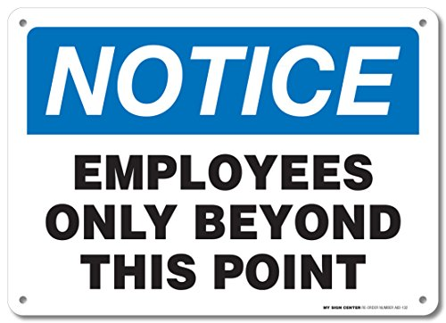 Employees Only Beyond This Point Sign - 10