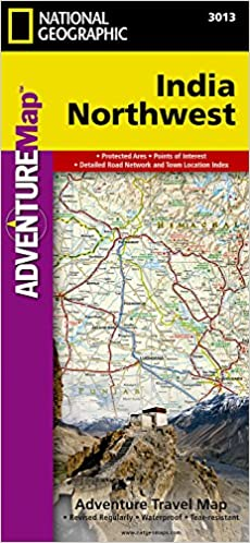 Map Of India Geographic.India Northwest National Geographic Adventure Map National