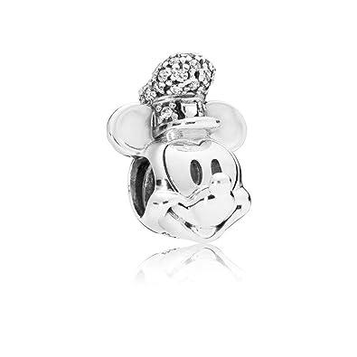 94bdf9515 Amazon.com: PANDORA Disney Shimmering Steamboat Willie 925 Sterling ...