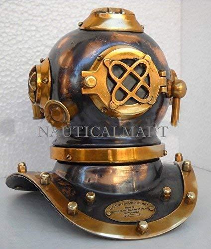 Royal Victorian Export Vintage Antique Steel Brass Mini Scuba Diving Divers Helmet Christmas Ornament Gift p