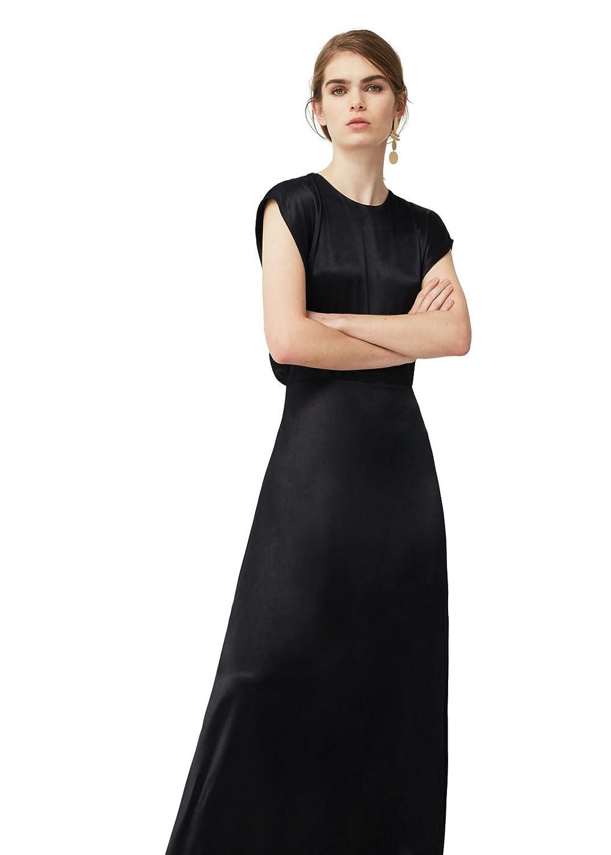 MANGO - Satin Dresses Evening gown - Size:8 - Color:Black