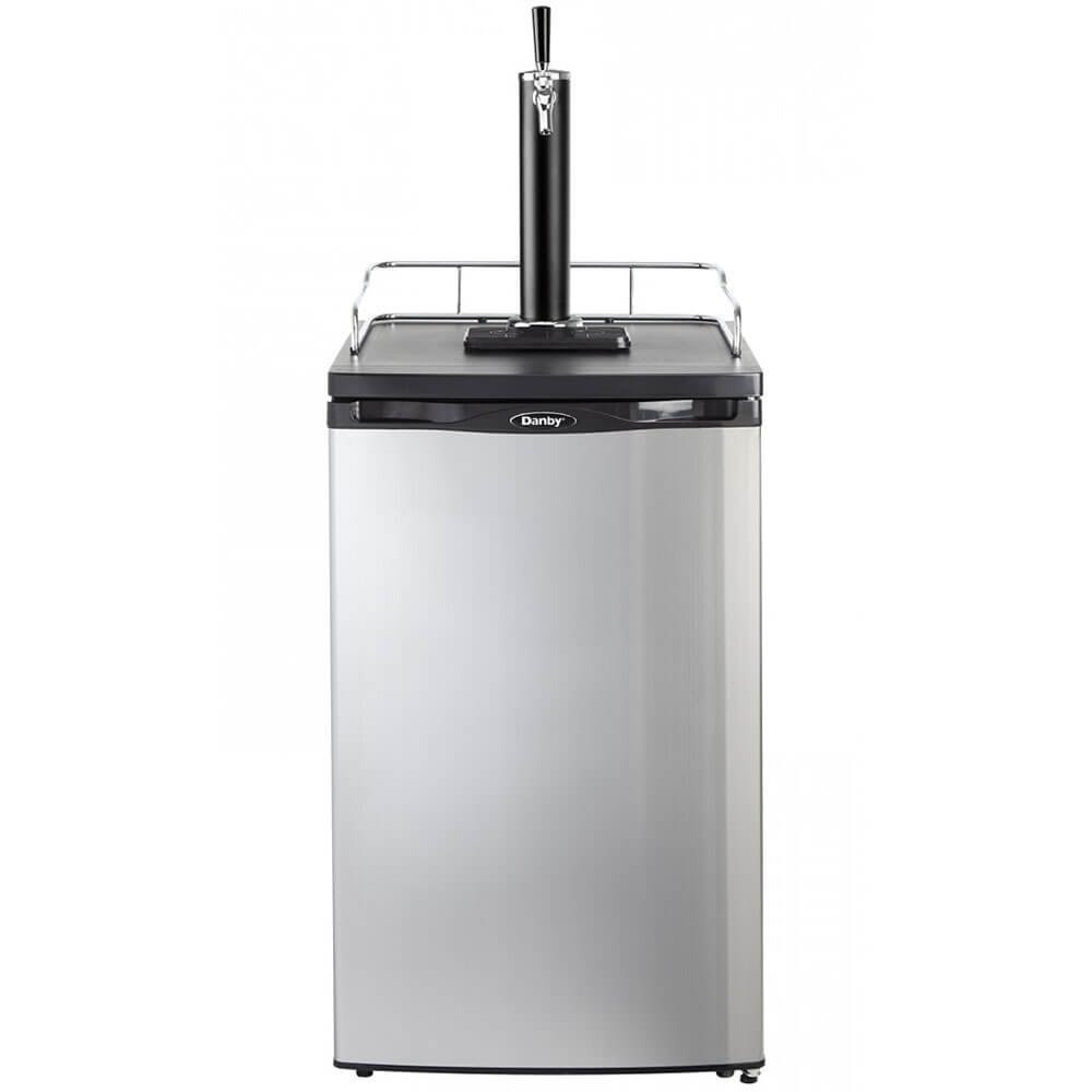 Danby Single Tap 5.2 Cubic Ft. Spotless Steel Home Beer Kegerator Beer Dispenser