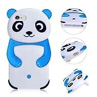 Coque pour iPhone 6S Plus Flex Silicone en TPU Coque,MingKun Ultra Mince Anti-Rayures Antichocs Case Housse Etui pour iPhone 6 Plus 5.5 Pouces Telephone Coque Panda Case Cover Couvertrue-Sky Bleu