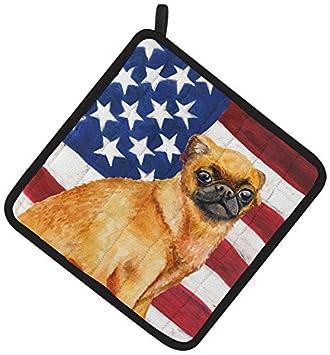 Dog 7.5H x 7.5W Carolines Treasures BB9741PTHD German Shepherd Love Decorated pot holder