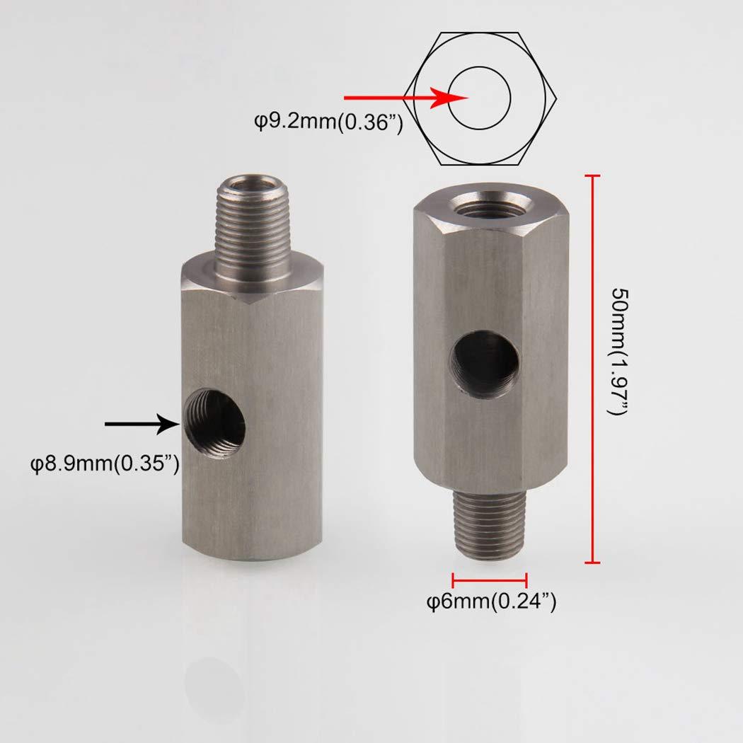 Fansport Kfz Sensor Adapter Edelstahl 1//8NPT /ÖLdrucksensor Anschluss