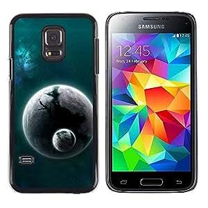 Be Good Phone Accessory // Dura Cáscara cubierta Protectora Caso Carcasa Funda de Protección para Samsung Galaxy S5 Mini, SM-G800, NOT S5 REGULAR! // Alien World Planet Cosmos Space