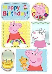 Peppa Pig cumpleaños de la diversión Bubbly Tarjeta de cumpleaños con el escudo (las importaciones Inglés)