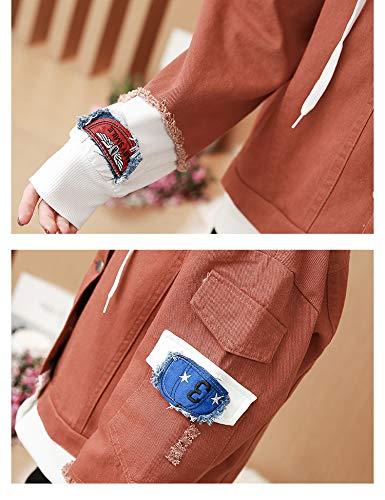 Giacche Ogobvck Di Blue2 Signore Jean Lunghe E A Jeans Donne Per Giacca Denim Le Pesanti La Maniche Donne Blu Donna pwqZpRx8r