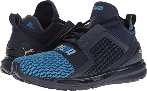 Puma Mens Ignite Limitless Colorblock Running Shoes – Peacoat-French Blue Size 11