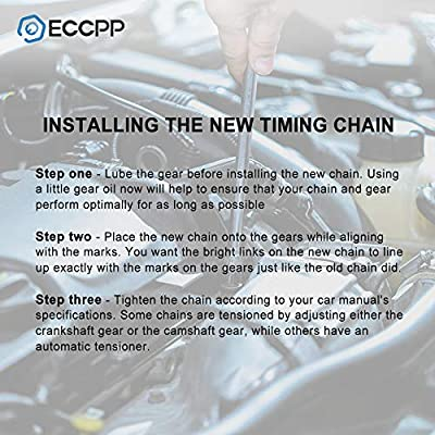 ECCPP Timing Chain Kit fits for Buick Century chevy Beretta Cavalier Corsica LLV S10 GMC Sonoma Isuzu Hombre Oldsmobile Cutlass Ciera Pontiac Sunfire 2.2L: Automotive