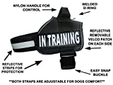 Service Dog Harness Vest Cool Comfort Nylon for dogs Small Medium Large Girth, Purchase comes with 2 IN TRAINING reflective patches. Please measure dog before ordering (Girth 24-31'', Black)