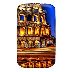 High Grade Hill-hill Flexible Tpu Case For Galaxy S3 - Colosseum By Night