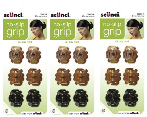 Scunci No Slip Octopus Jaw Clips, 18 ct, Mini, 2.5 cm