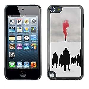 For Apple iPod Touch 5 Case , Red Blood Metal Goth Winter Dark - Diseño Patrón Teléfono Caso Cubierta Case Bumper Duro Protección Case Cover Funda
