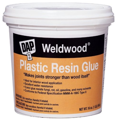 Dap: 1Lb Plastic Resin Glue, 00203 2PK