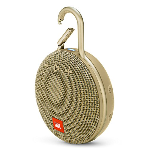 JBL Clip 3 Portable Waterproof Wireless Bluetooth Speaker – Sand