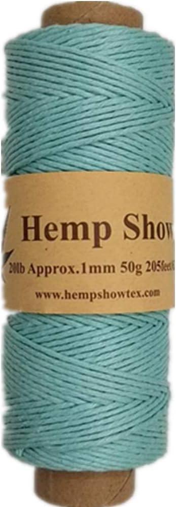 Coral Hemp Show 100/% Hemp Twine 0.5mm-25g-62m