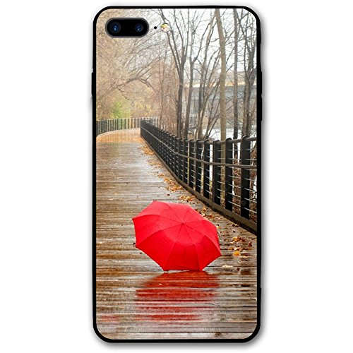 5.5Inch Iphone 8 Plus Case Suspension Bridge Red Umbrella Anti-Scratch Shock Proof Hard PC Protective Case (Seven Sons Umbrella)