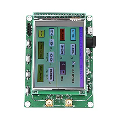 Diyeeni RF Signal Generator Module Set,5V 35M to 4.4G Sweep RF Signal Generator Module+STM32 TFT Color Touch LCD,ADF4531 Module for Frequency,Frequency Sweep