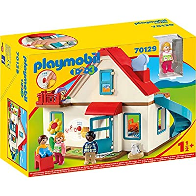 PLAYMOBIL Single Family House 70129 1.2.3 House with Figures: Toys & Games