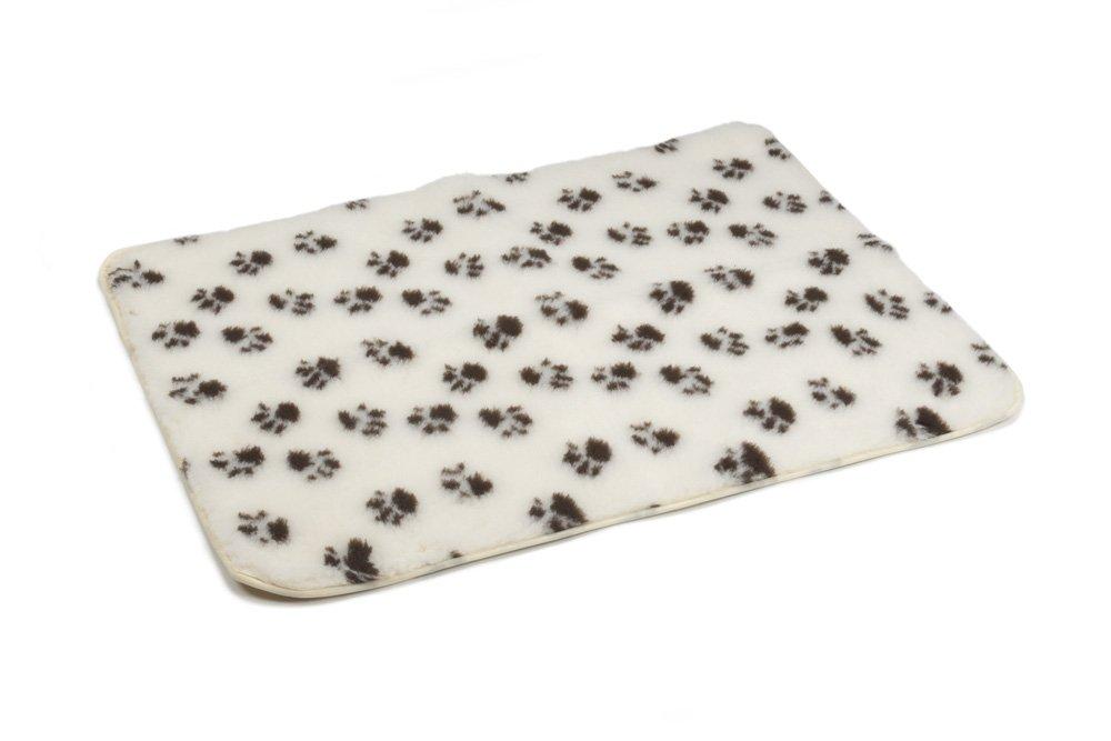 Beeztees Drybed Nonslip Pawprint, 100 x 75 cm, Beige