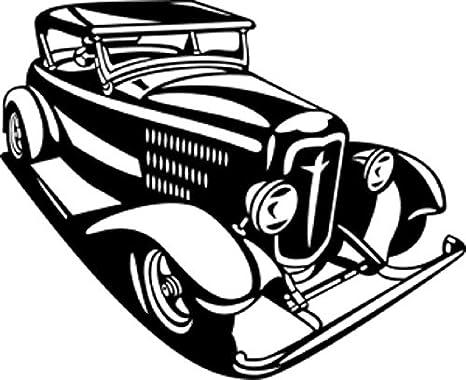 Amazon.com: BCD ROADSTER Sedan Car Vinyl Decal Wall Art Hot Rod ...