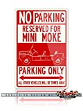 mini cooper parking sign - Austin Mini Moke 1963 - 1993 Reserved Parking Only Aluminum Sign - 12 by 18 inches (1, Large) - Great British Classic Car Gift