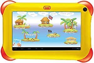 Trevi TAB Kidtab 7 4GB Yellow - Tablet (IEEE 802.11n, Android, Pizarra, Android, Amarillo, calculadora, calendario)