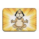 Youbah-01 Indoor/Outdoor Floor Mat With Dog Meditation Cartoon Graphic Pattern For Dining Hallway Bathroom