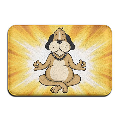 Youbah-01 Indoor/Outdoor Floor Mat With Dog Meditation Cartoon Graphic Pattern For Dining Hallway Bathroom by Youbah-01