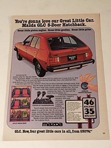 1977 Mazda GLC Hatchback & RX-3SP Magazine Print Advertisement Lot of 2
