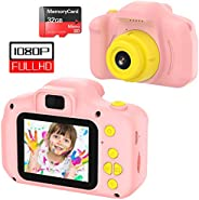 VATENIC Kids Toys for 3-10 Year Old Girls, Kids Camera 1080P 2inch HD Children Digital Cameras for Girls Best