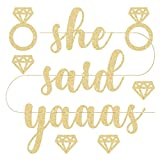 Arts & Crafts : She Said Yaaas Bachelorette Party Banner - Pre Strung | Engagement Party Decoration and Bridal Shower Sign
