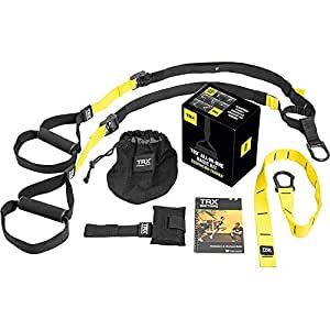TRX All In One Suspension Training System: Full Body Workouts for Home, Travel, and Outdoors | Includes Indoor & Outdoor Anchors, Workout Guide and Video Downloads