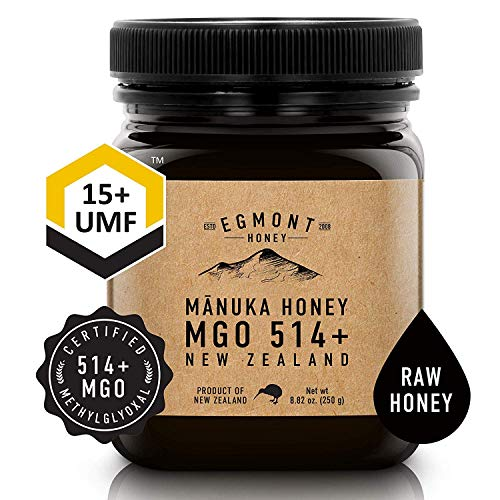 Egmont Manuka Honey UMF 15+ 250g (8.8oz) 100% Natural Non-GMO Ethically Sourced Superior Flavour Manuka Honey Superfood from Sustainable Bee Hives in the Remote Manuka Forests of New Zealand